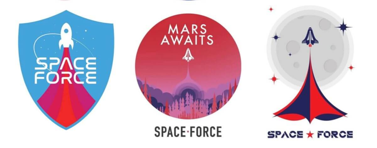 Space Force de E.U busca un logo que los represente