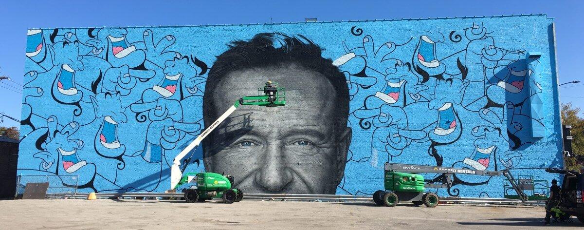 Robin Williams es homenajeado en Chicago con un mural