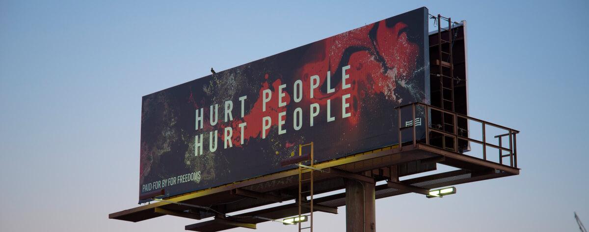 Arte en carteles para elecciones en Estados Unidos