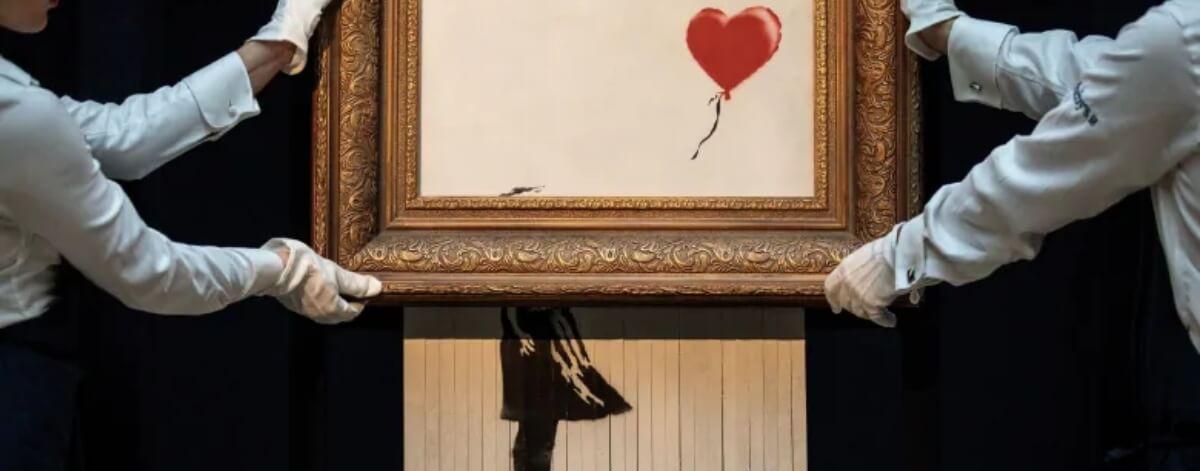 Banksy revela video de obra destruida en subasta