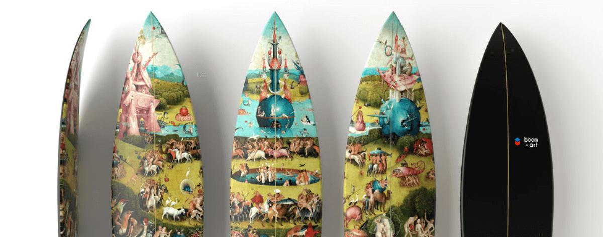 Boom Art y UWL surfboards crearon tablas artísticas
