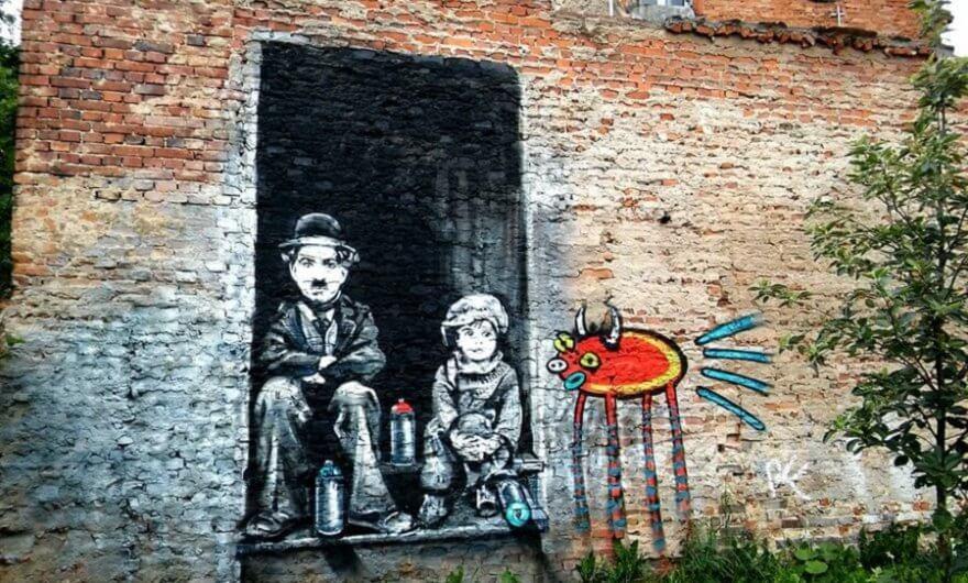 Mural película Chaplin
