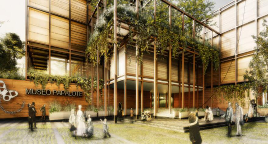Lámina del render del proyecto ganador del nuevo Papalote Museo de Iztapalapa H