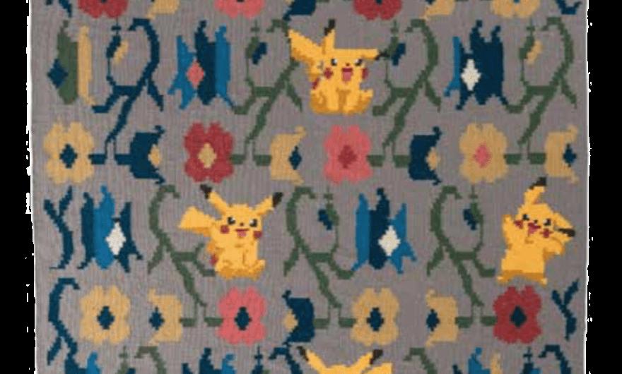 Tapiz de Pokemon confeccionada por Olk Manufactory