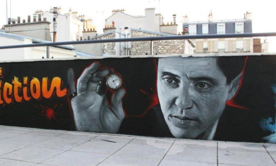 Mural de la película Pulp Fiction