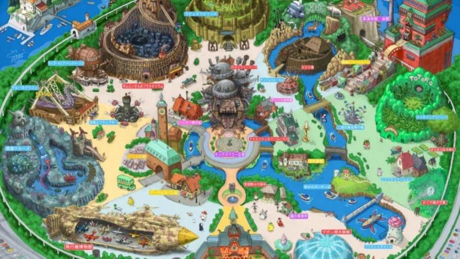 Apariencia del parque temático de Studio Ghibli