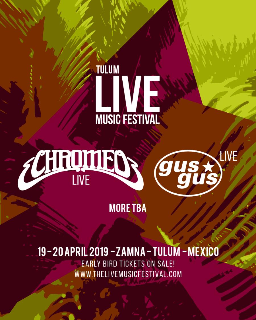 Cartel oficial del Live Music Festival de Tulum