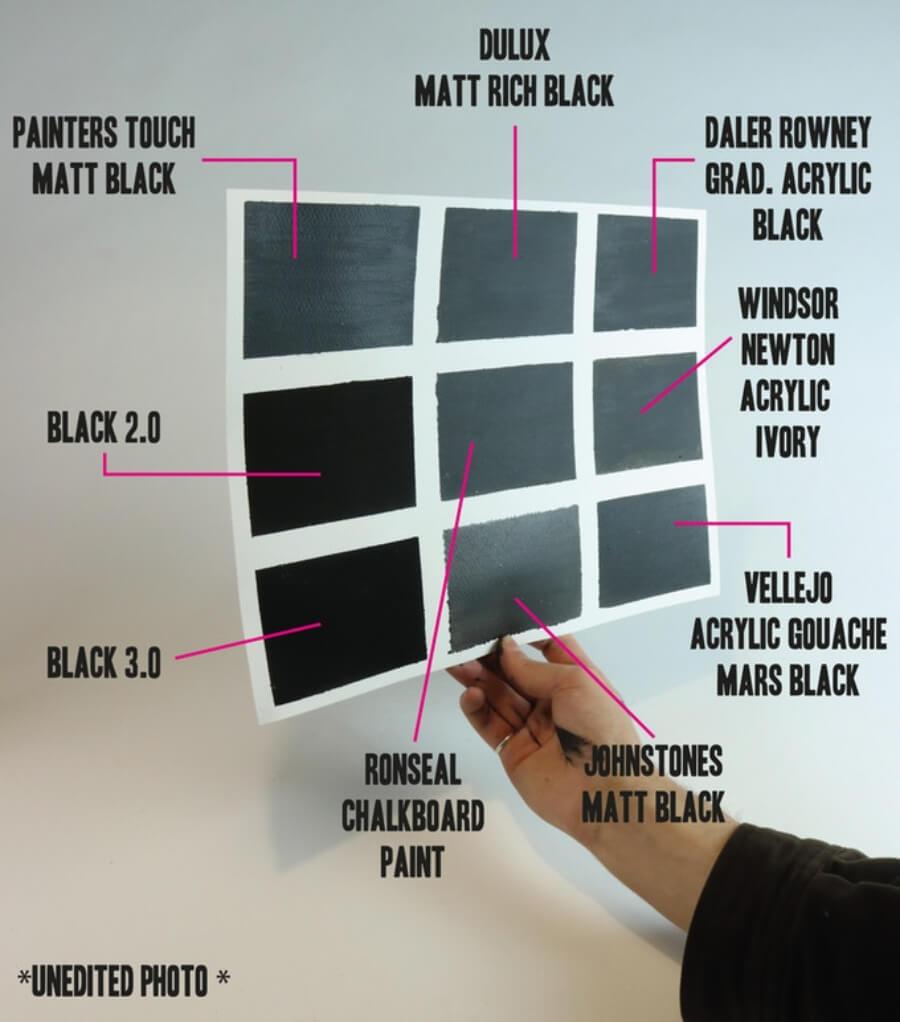Pintura acrílica más negra del mundo por Stuart Semple