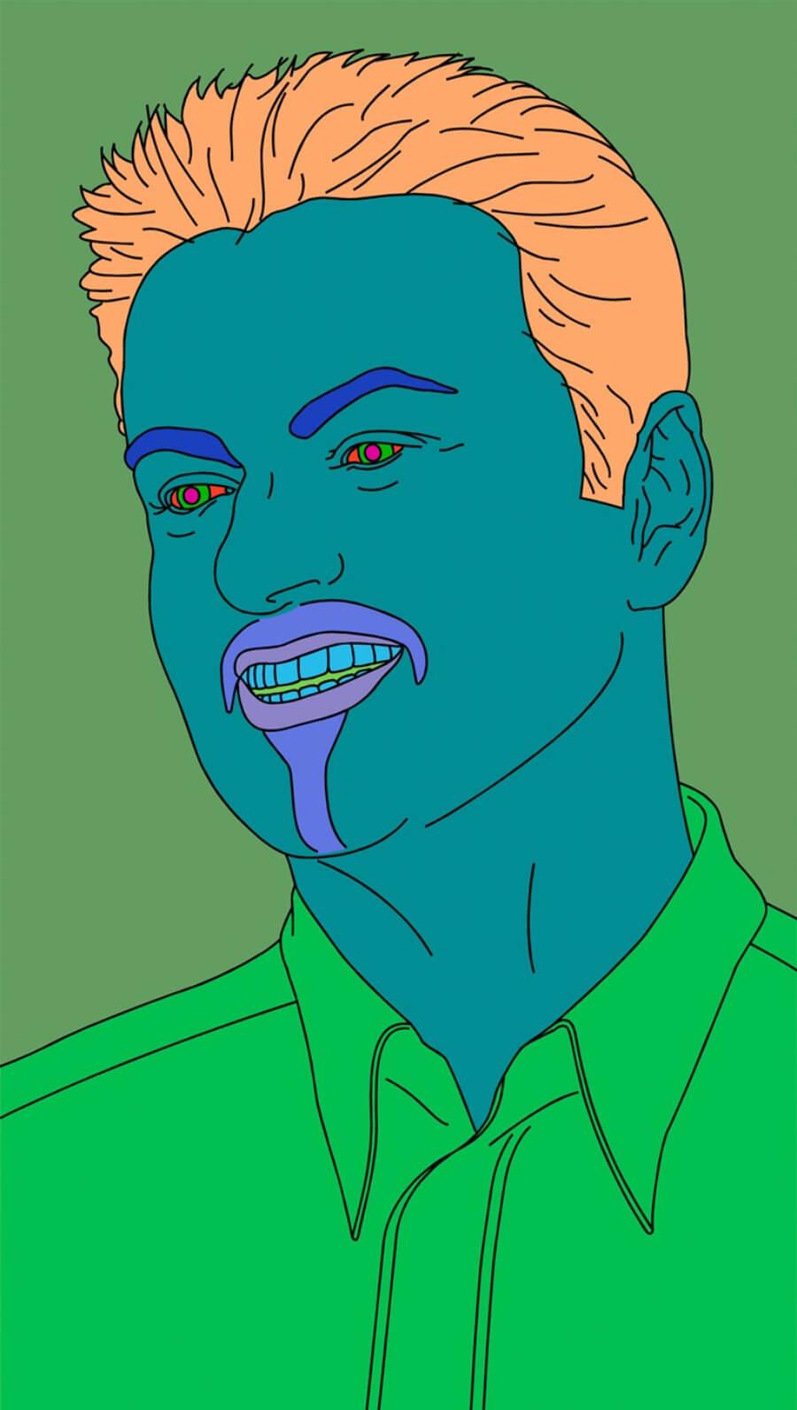 retrato de George Michael por Craig Martin