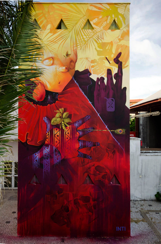 cuatro murales de INTI en Latinoamérica