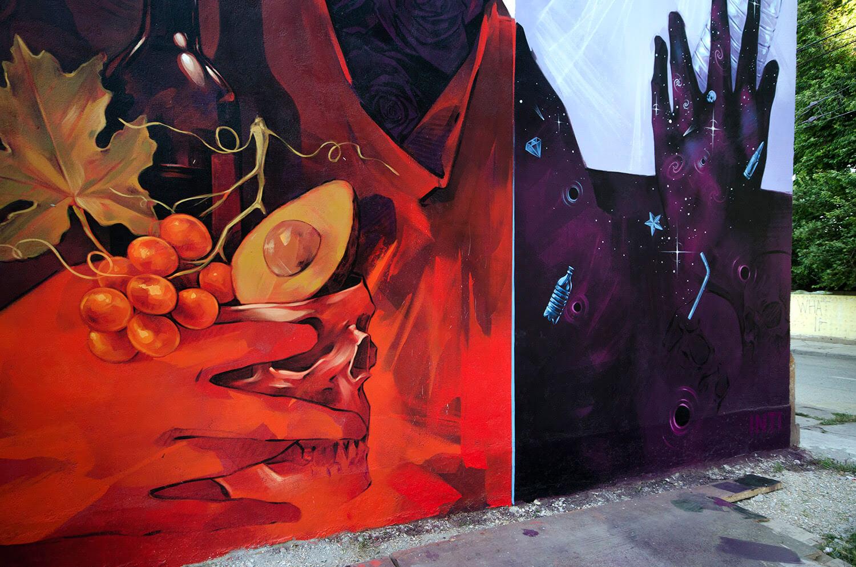 parte del mural de INTI en Valparaíso, Chile
