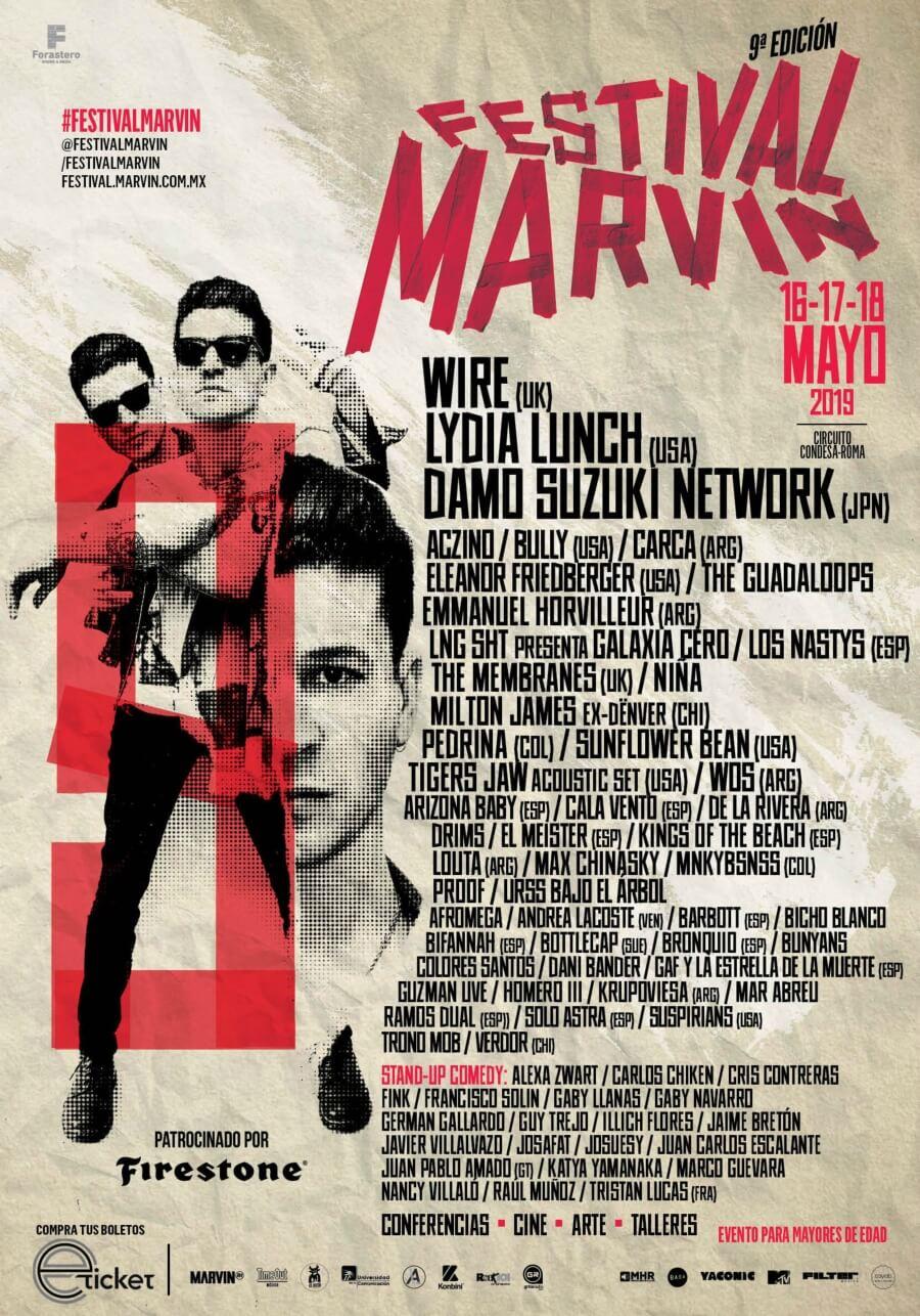 ¡Ya está listo el cartel del Festival Marvin 2019!